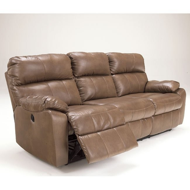 Windmaster DuraBlend Taupe Reclining Power Sofa