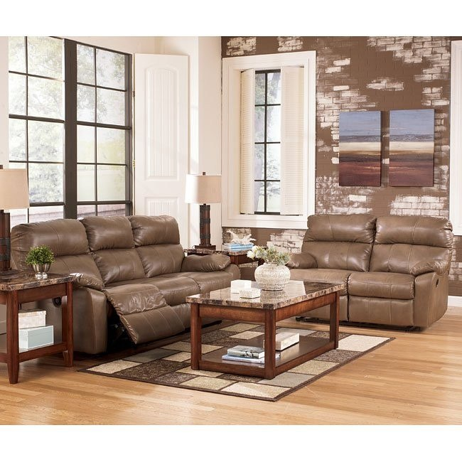 Windmaster DuraBlend Taupe Reclining Living Room Set