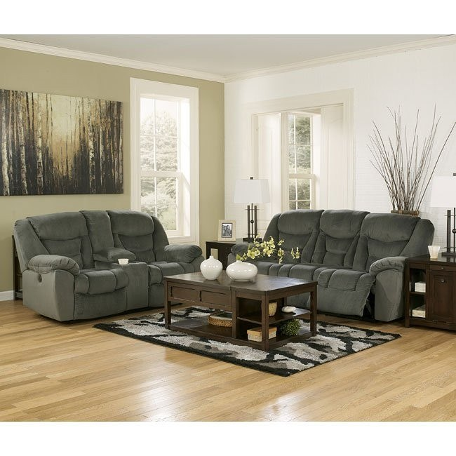 Biwabik Pewter Reclining Living Room Set