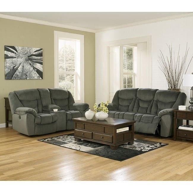 Biwabik Pewter Power Reclining Living Room Set