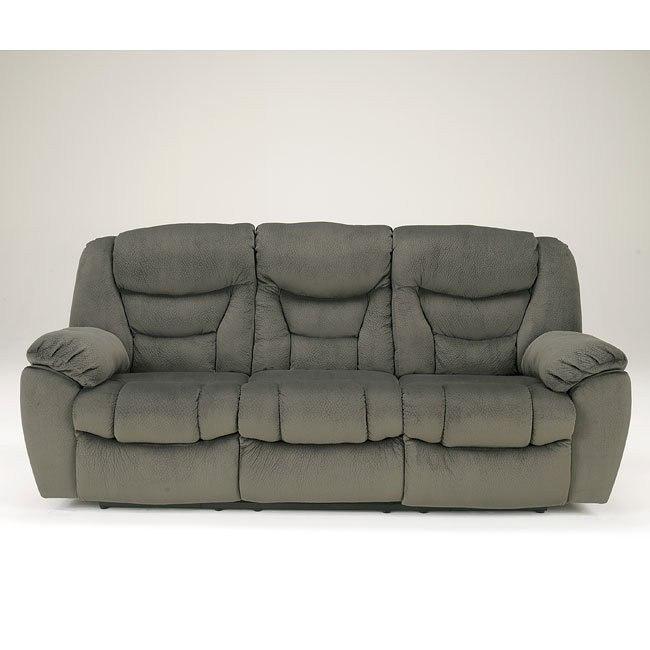 Biwabik Pewter Reclining Power Sofa