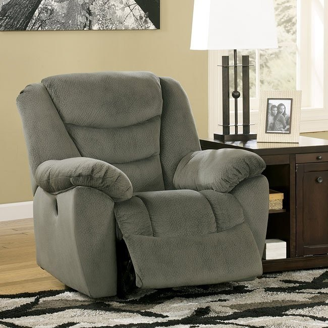 Biwabik Pewter Power Rocker Recliner