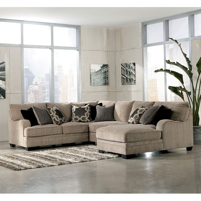 Katisha Platinum Sectional w/ Chaise Signature Design by ...