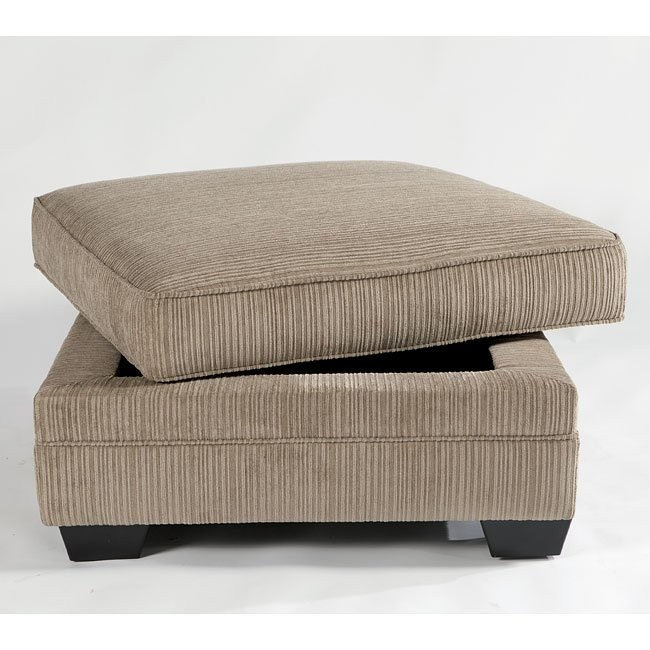 Katisha Platinum Ottoman With Storage