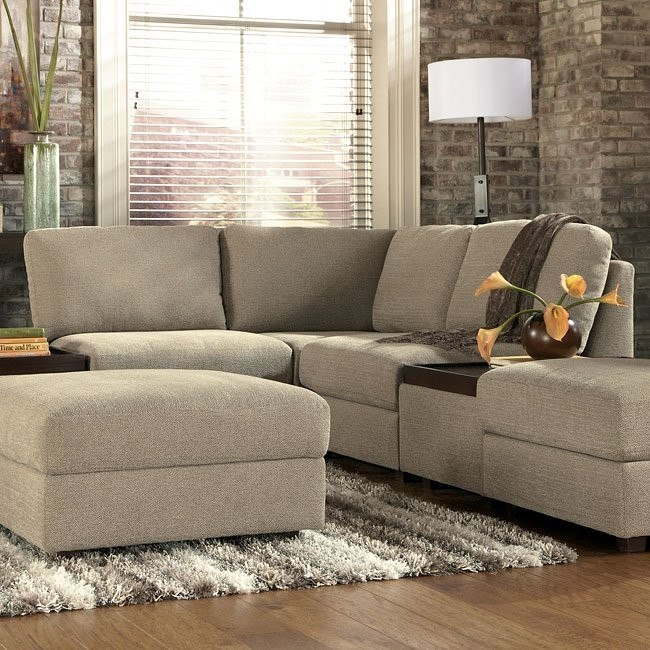Tosha Linen Small Modular Sectional