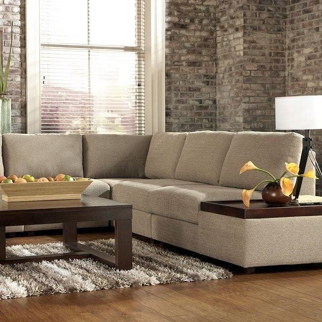 Tosha Linen Sectional Living Room Set