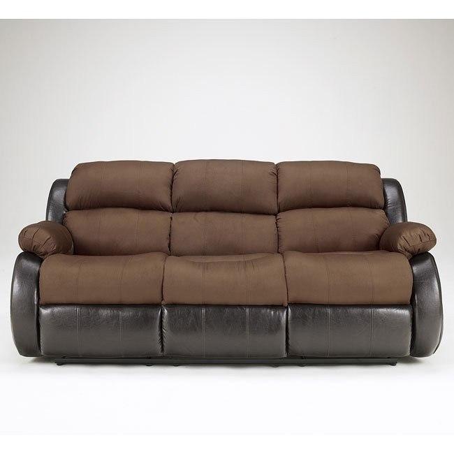 Presley - Espresso Reclining Sofa w/ Massage