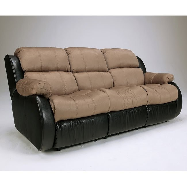 Presley - Cocoa Reclining Sofa w/ Massage