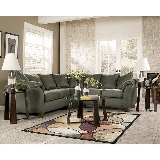 Durapella - Sage Sectional Living Room Set