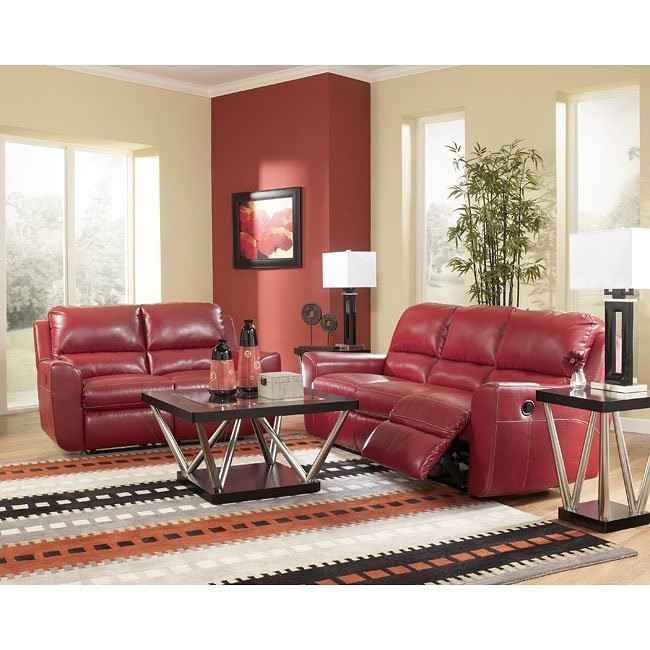 Ledger DuraBlend - Scarlett Reclining Living Room Set