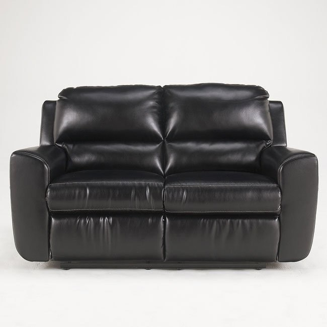 Ledger DuraBlend - Black Reclining Loveseat