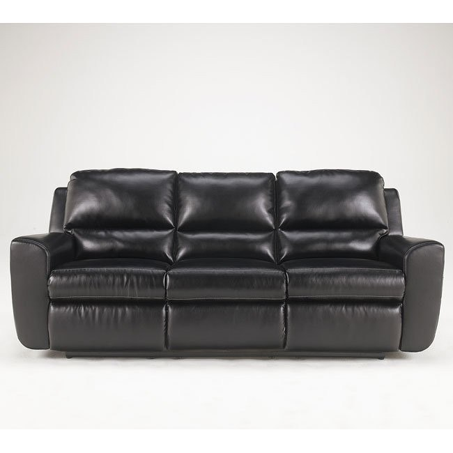 Ledger DuraBlend - Black Reclining Sofa