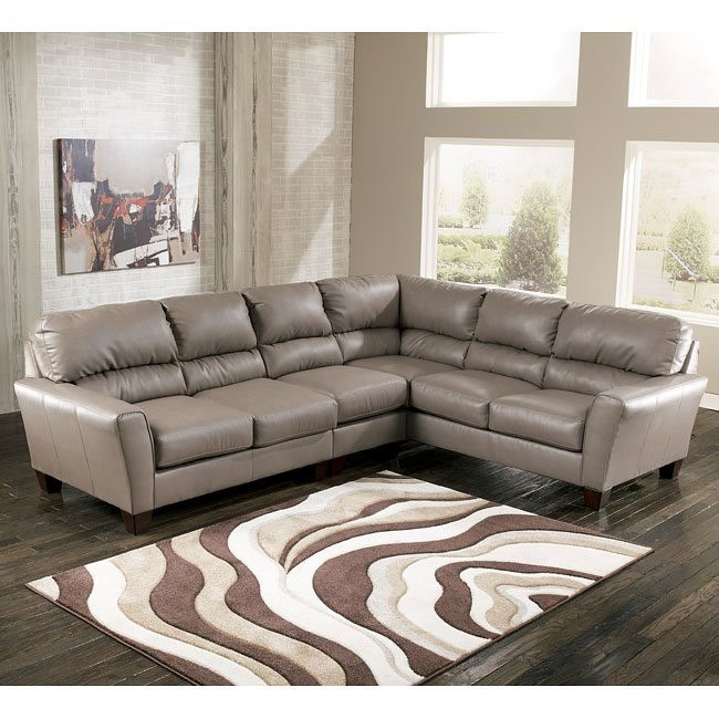 Kentley DuraBlend - Mushroom Large Sectional w/ Left Loveseat