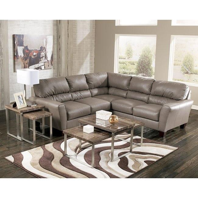 Kentley DuraBlend - Mushroom Sectional Living Room Set