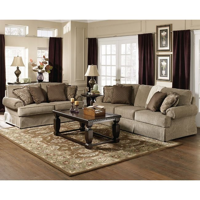 Sheffield - Platinum Living Room Set