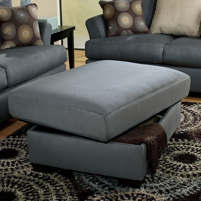 Mindy - Indigo Ottoman w/ Storage