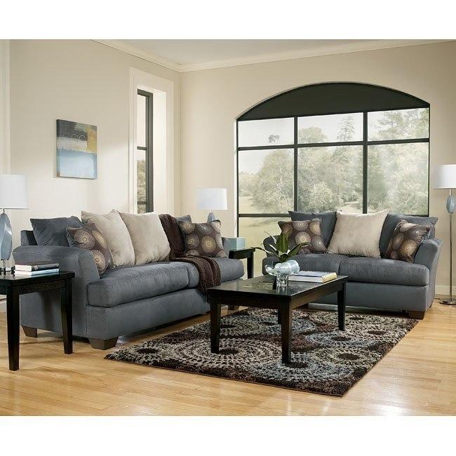 Mindy - Indigo Living Room Set