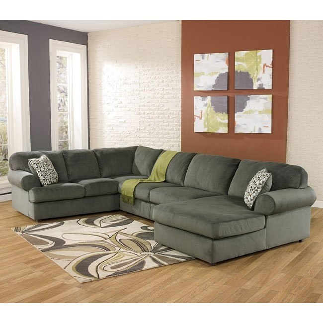 Jessa Place Pewter Right Chaise Sectional
