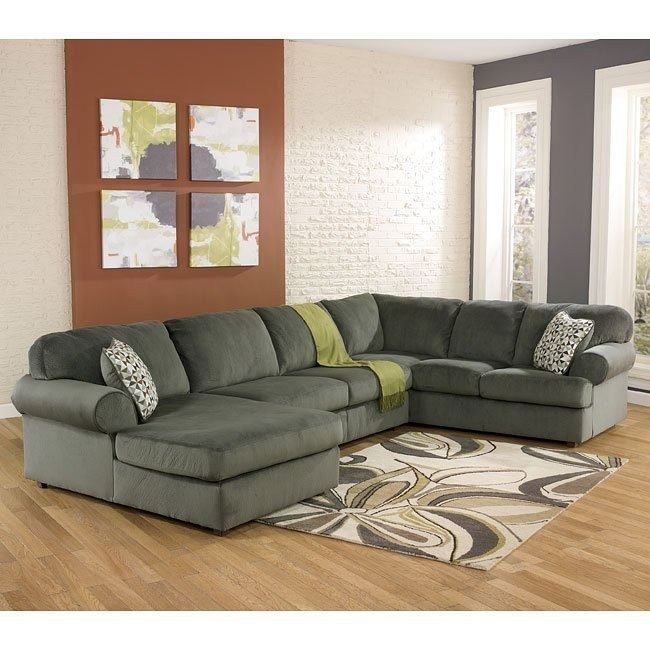 Jessa Place Pewter Left Chaise Sectional