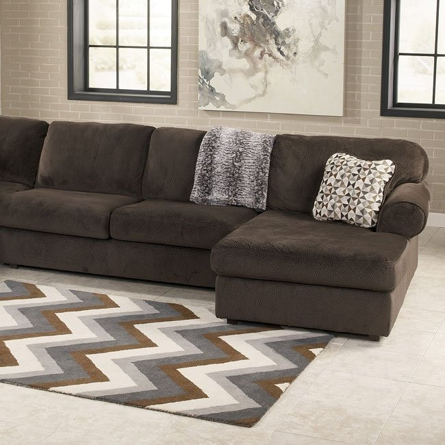 Jessa Place Chocolate Modular Sectional