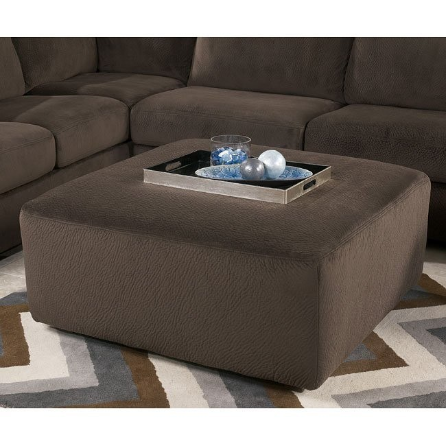 Jessa Place Chocolate Oversized Accent Ottoman