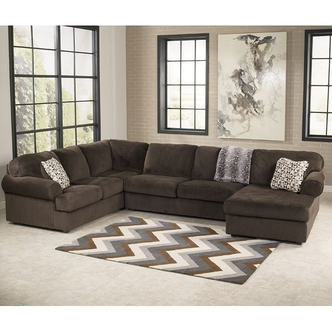 Jessa Place Chocolate Right Chaise Sectional