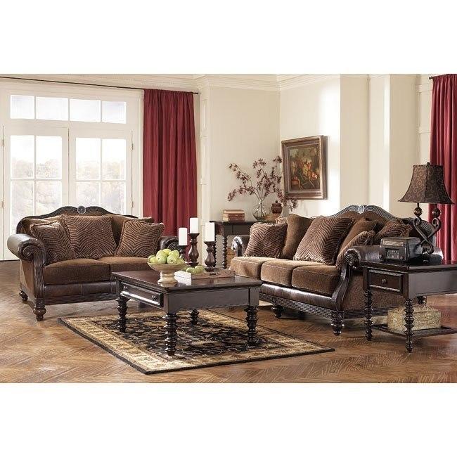 Key Town - Truffle Living Room Set