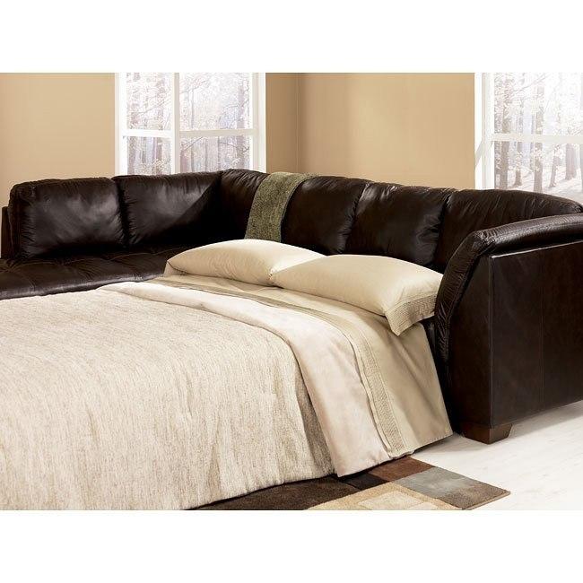 Harrington - Chocolate Left Chaise Sectional with Sleeper