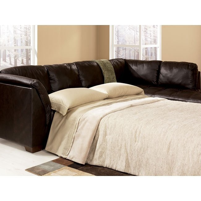 Harrington - Chocolate Right Chaise Sectional with Sleeper