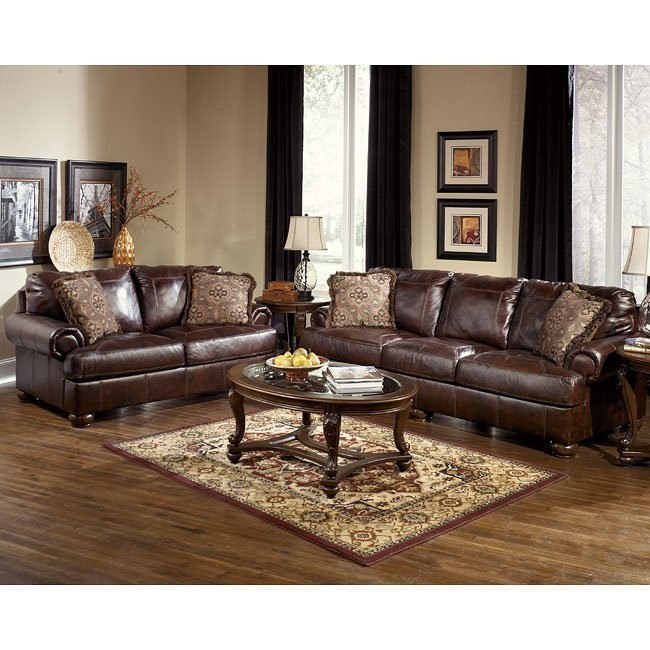 Axiom - Walnut Living Room Set