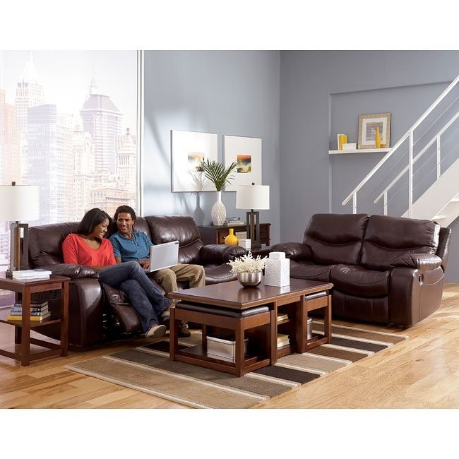 Zackary - Mahogany Power Reclining Living Room Set