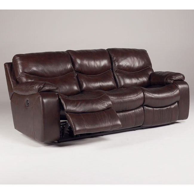 Zackary - Mahogany Reclining Sofa w/ Power
