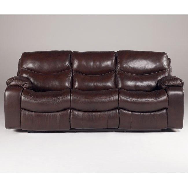 Zackary - Mahogany Reclining Sofa