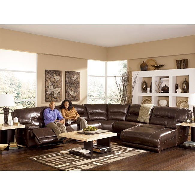 Exhilaration - Chocolate Modular Reclining Sectional Set w/ Power