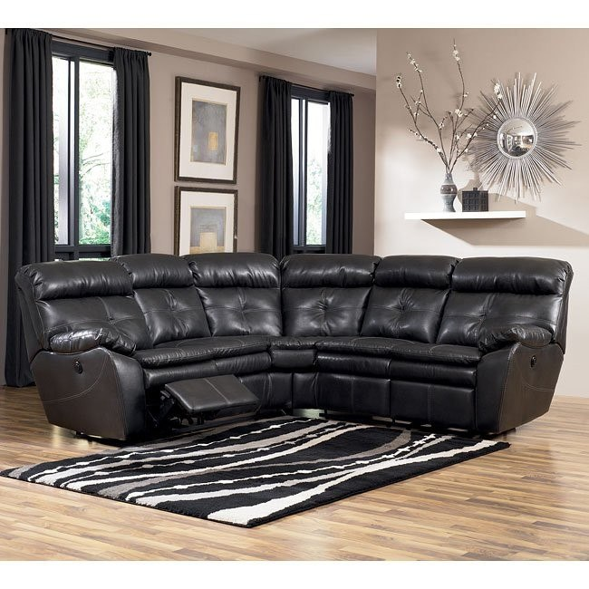Sander DuraBlend - Charcoal Reclining Sectional