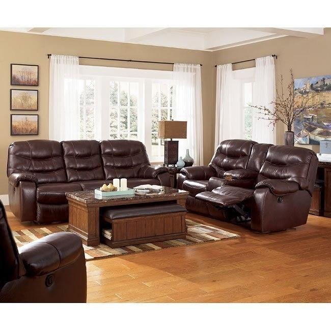 Rourke - Burgundy Reclining Living Room Set w/ Power