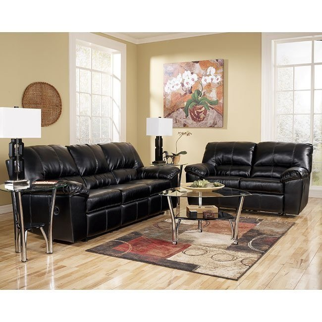 DuraBlend - Black Reclining Living Room Set