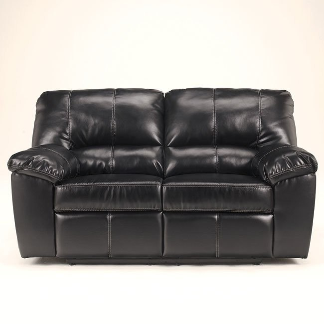 DuraBlend - Black Reclining Loveseat