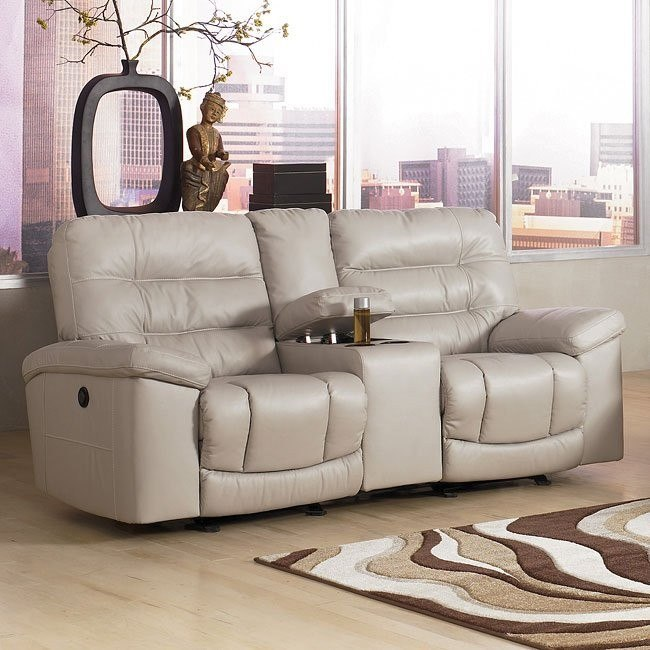 Climax - Iceberg Dual Glider Reclining Loveseat w/ Console