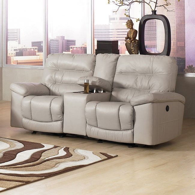 Climax - Iceberg Double Reclining Loveseat w/ Console