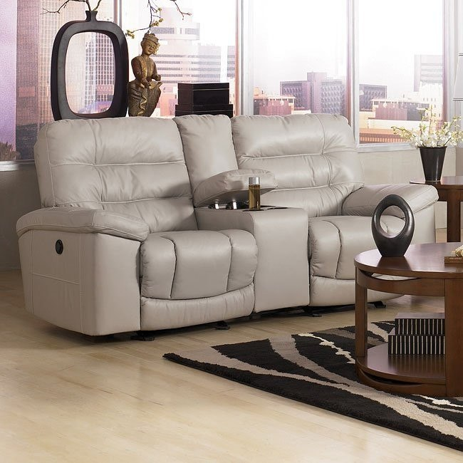 Climax - Iceberg Double Reclining Loveseat w/ Console & Power
