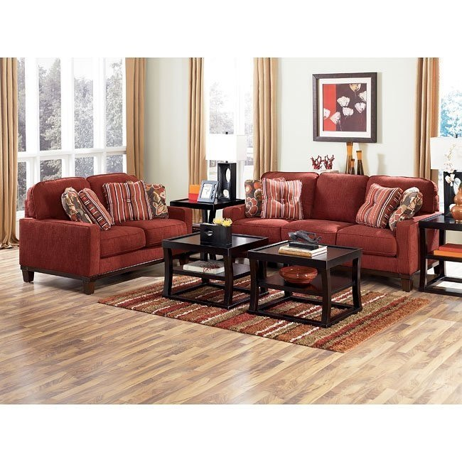 Darby - Spice Living Room Set