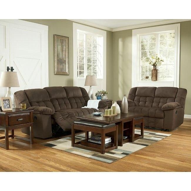 Lowell - Chocolate Reclining Living Room Set