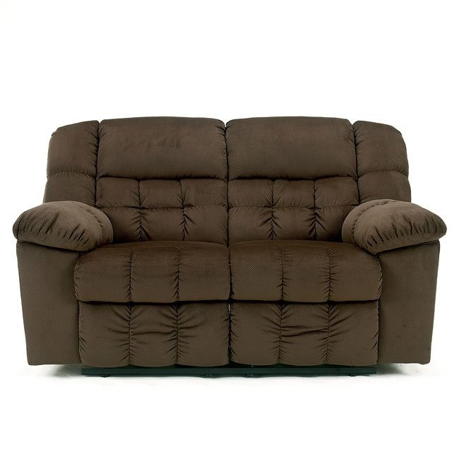Lowell - Chocolate Reclining Loveseat