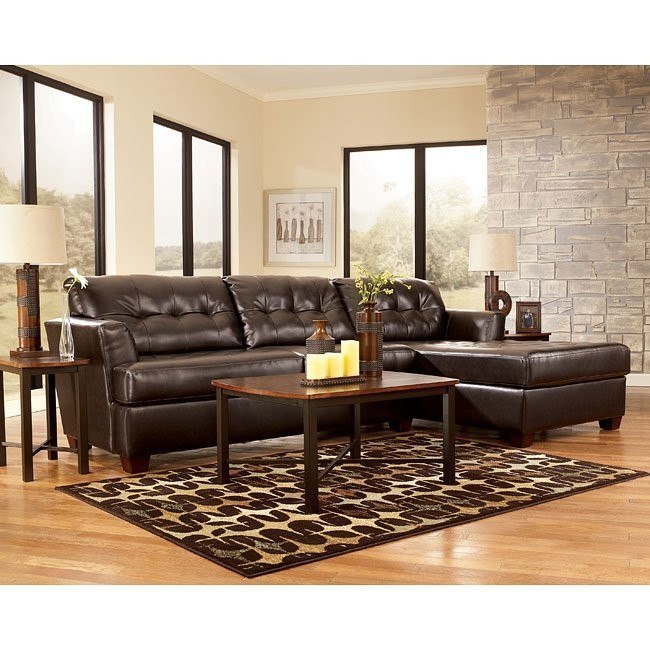 Dixon DuraBlend - Chocolate Sectional Living Room Set