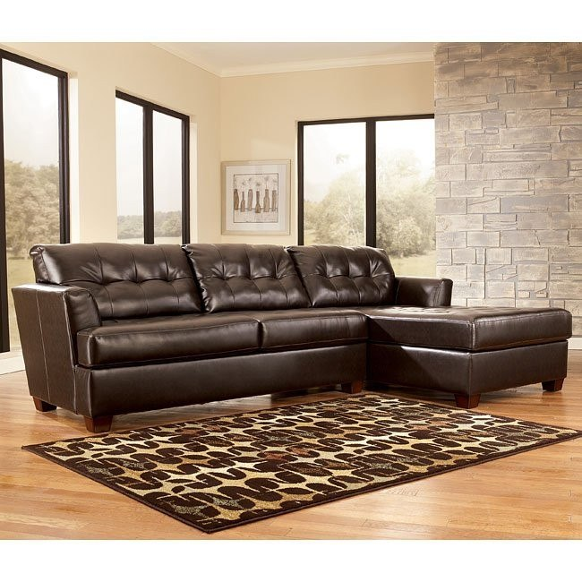 Dixon DuraBlend - Chocolate Right Chaise Sectional