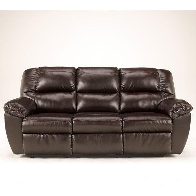 Rouge DuraBlend-Mahogany Reclining Sofa