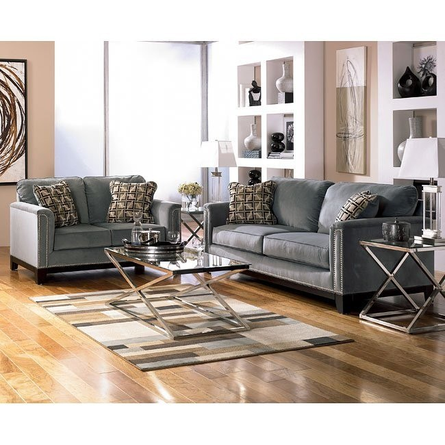 Entice - Mist Living Room Set