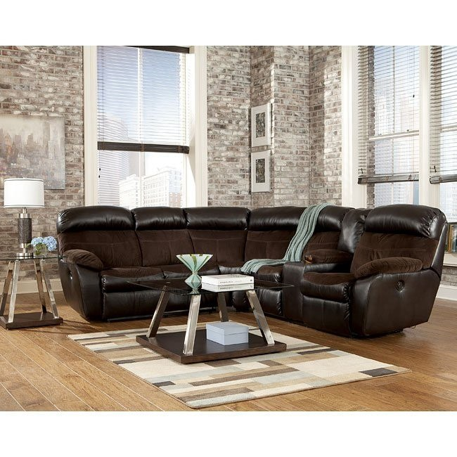 Berneen Coffee Reclining Sectional Set
