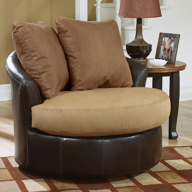 Lawson - Saddle Round Swivel Chair